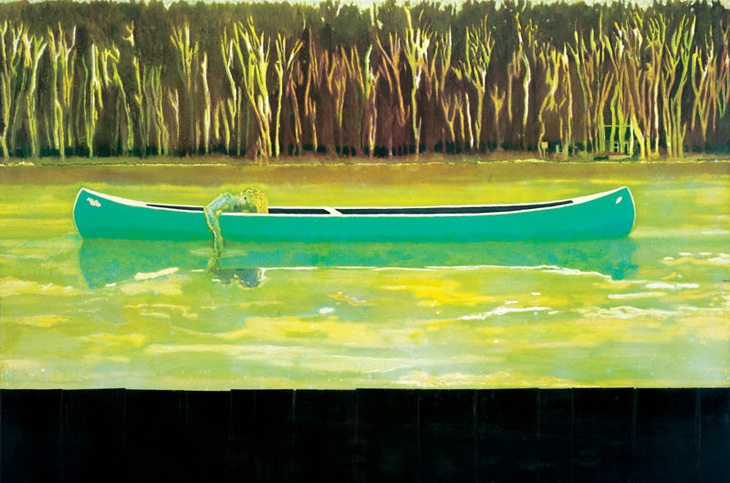"""Canoe-Lake"" (1997), por Peter Doig Foto: The Saatchi Gallery"